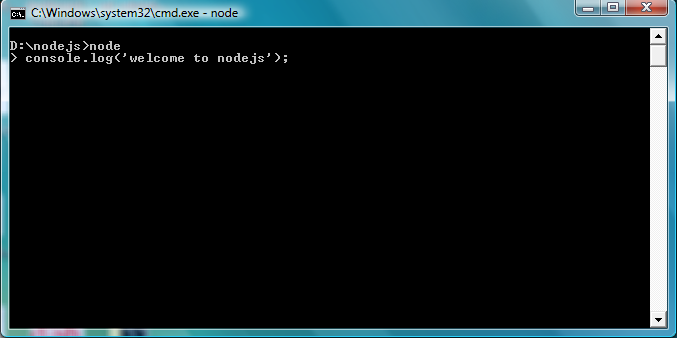 run simple program in nodejs