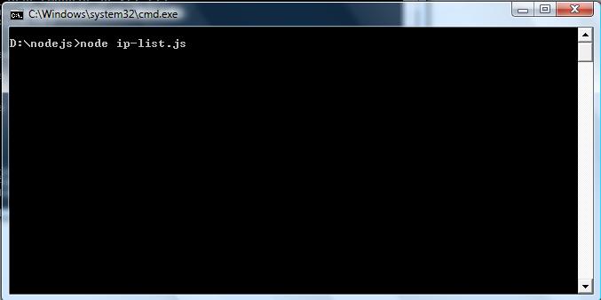 executing nodejs program