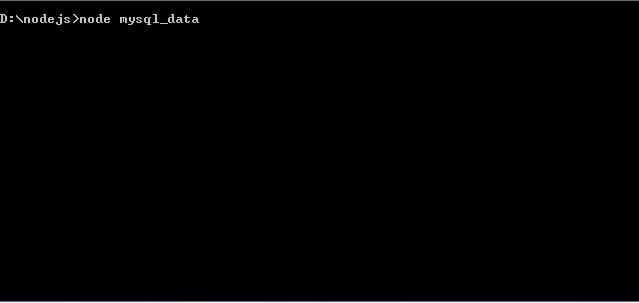 Nodejs execute mysql_data