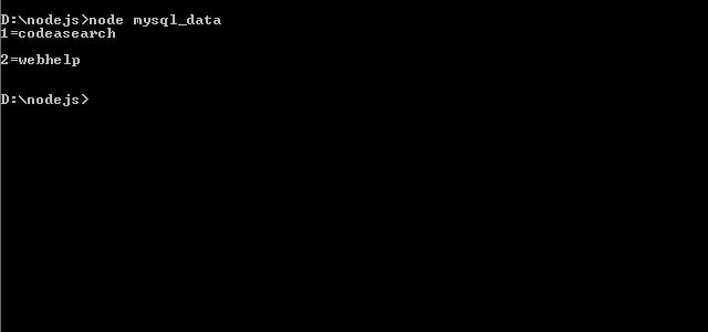 Nodejs output mysql_data