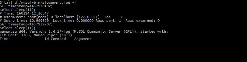 mysql slow query empty result